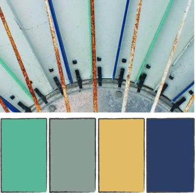 California umbrella color palette