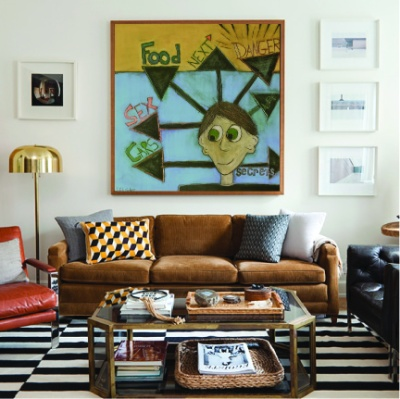 Lillibridge art in Nate Berkus room boy painting