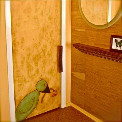 Lisa Lillibridge, carved door, dakota 1966 burlington vermont