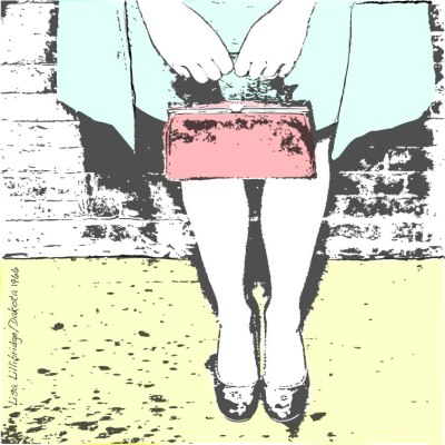 Maggie with red purse lillibridge dakota 1966 print