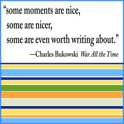 bukowski quote stripes