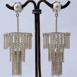 Jane Frank, chandelier earrings