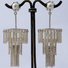 Jane Frank, chandelier earrings