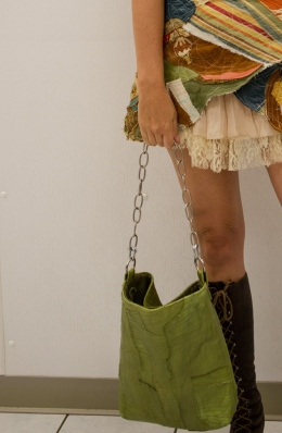 Lisa Lillibridge maggie close up of bag and skirt