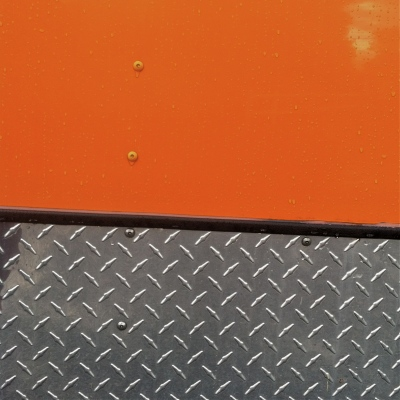 orange truck metal lillibridge dakota 1966