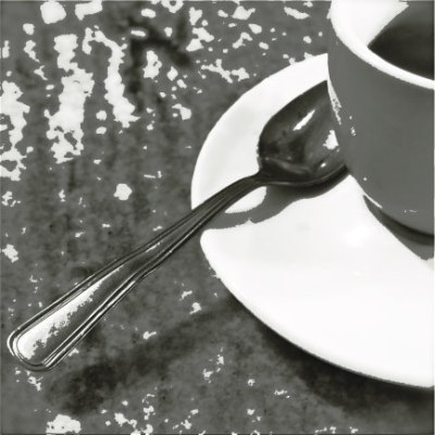 coffee cup black and white treatment lillibridge