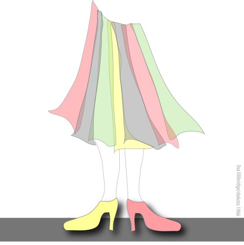 lillibridge skirt and shoes drawing