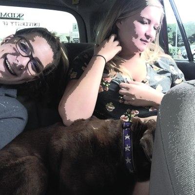 girls and dog lillibridge