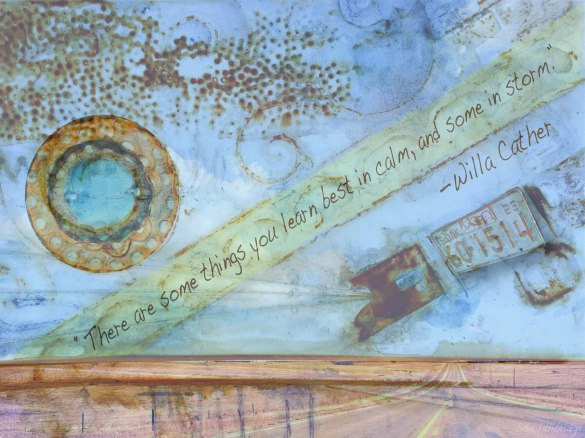 Willa Cather quote Lillibridge rust print