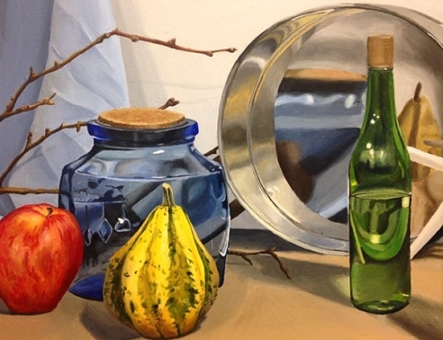 Maddy Brookes acrylic still life one