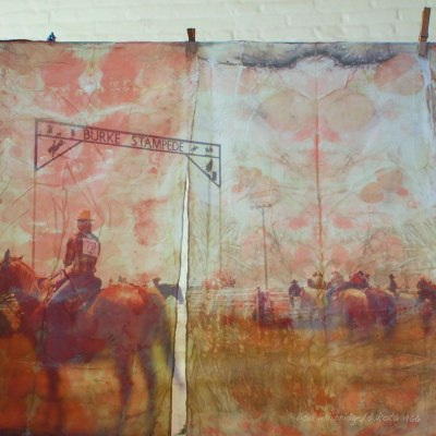 elizabeth bunsen and lisa lillibridge rodeo in south dakota