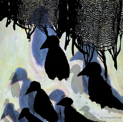 black cloth murder of crows lisa lillibridge