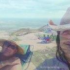 jeff and lisa on beach airplane shot of sd
