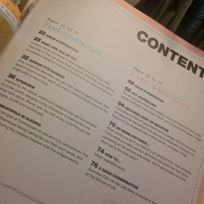 contents FLOW magazine Lillibridge