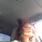 me hair blowing