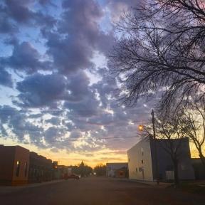 main street morning light