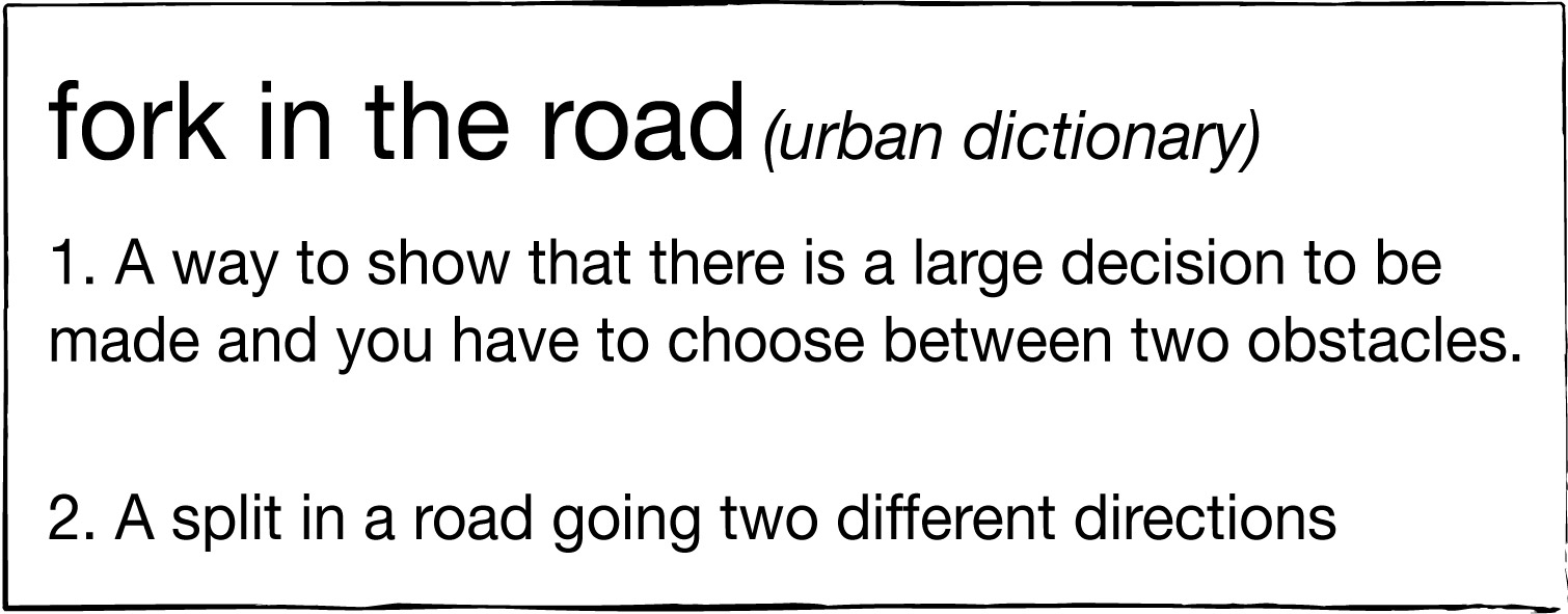 fork in the road defined