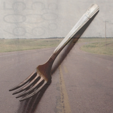 FORK IN THE ROAD south dakota by Lisa Lillibridge