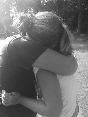 twin girls hugging lisa lillibridge