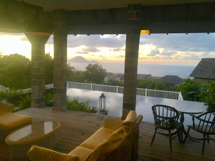 villa deck by pool